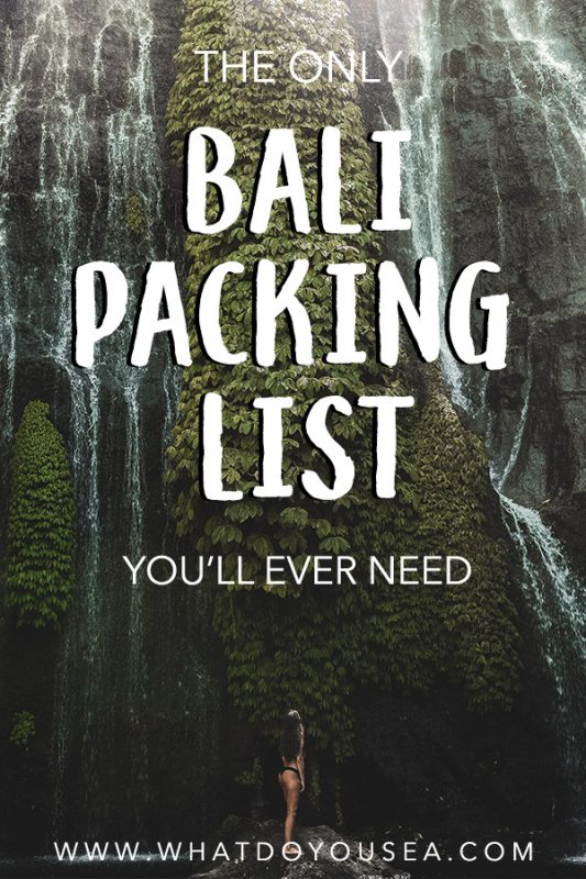 Planning a trip to Bali and need to know what to wear for a comfortable, stylish, and seamless trip? This (perfect) Bali packing list for women gives you everything you need to pack for this Indonesian island dream spot. Everything from travel gear, photography gear, clothing shoes, and more for the perfect trip! #balipackinglist #bali #baliindonesia