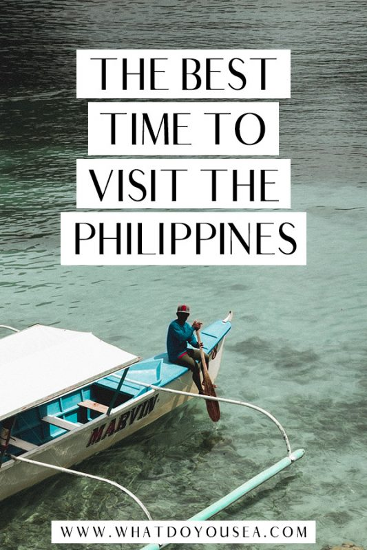 Discover the best time to visit the Philippines with this month-by-month weather guide that gives you all the 411 on when exactly to visit these beautiful islands! Whether you're island hopping, surfing off of Siargao, or trekking through Northern Luzon, you'll find the most optimal month for your trip! #philippines #besttimetovisitthephilippines #travelphilippines