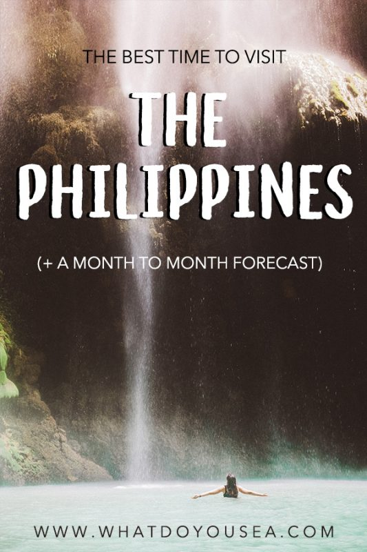 the best time to visit the philippines pinterest image