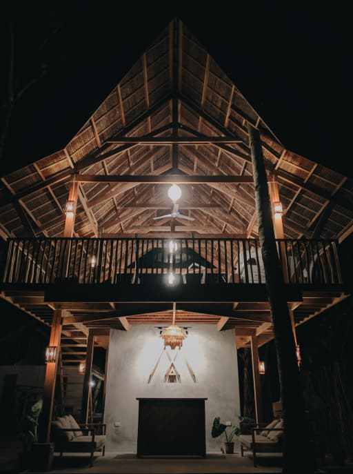where to stay in siargao - lampara boutique hostel entrance