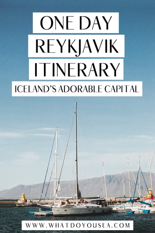 Only have a day to spare in Reykjavík and want to see everything that the city has to offer? This Reykjavik itinerary is perfect for first-timers, solo travelers, couples, and families to explore Iceland's capital and make the most out of your time there! It features all the best things to do in Reykjavik as well as where to eat, where to stay, and some option morning adventures! #reykjavik #traveliceland #dayinreykjavik