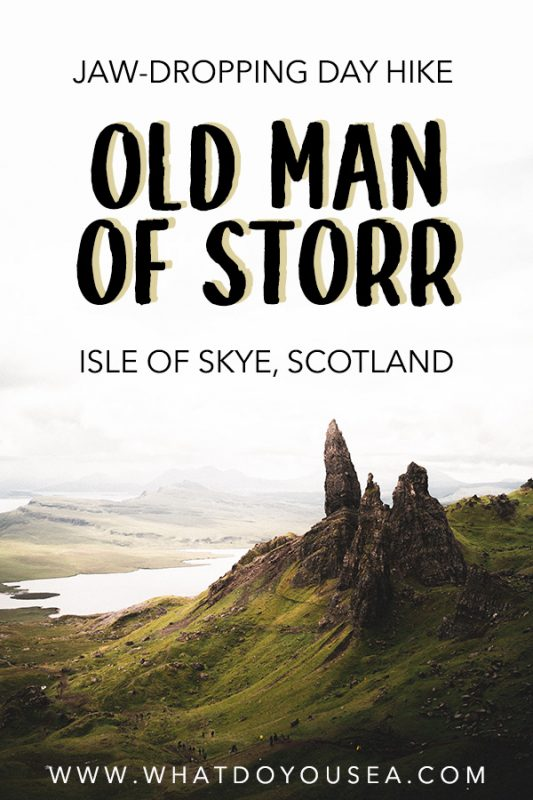 If you're paying a visit to the Isle of Skye, you don't want to miss out on the mystical, alien, and unreal hiking experience that is the Old Man of Storr. This hike should take the spot for the #1 thing to see while in the Scottish Highlands because these views are unreal! #isleofskye #oldmanofstorr #scotland