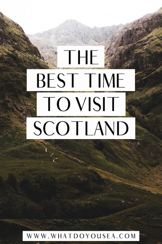 Do you want the most bang for your buck on your trip to Scotland? Do you want moody weather? Sunny weather? Spooky weather? Winter weather? Any weather? In this month-to-month weather breakdown, it covers the best month to travel to Scotland no matter your weather choice as well as when to go to avoid midges, visit the highlands, and more! #visitscotland #scotlandtraveltips