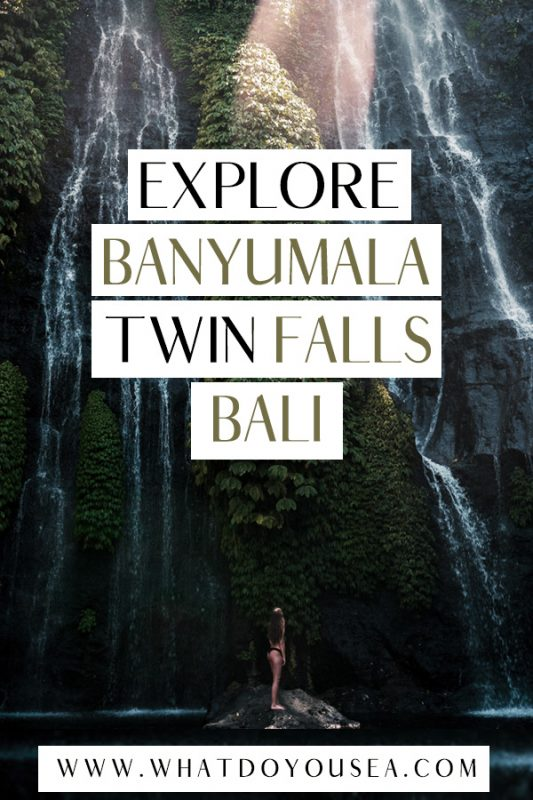 Exploring the Banyumala Twin Waterfalls in Bali is one of the best things to do in Bali on an adventurous itinerary! This is one of my favorite photography locations in Bali and you cannot miss it if you're exploring the north! #baliindonesia #bali