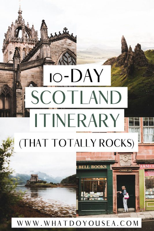 Looking for the ultimate Scotland itinerary for 10 days? This epic road trip begins in Edinburgh and ventures out into the magical beauty of the Scottish Highlands and thoroughly explores the city. It's the perfect itinerary for first-time visitors to Scotland since you get a taste of the highlights in just under two weeks! #scotlanditinerary #scotlandtravel