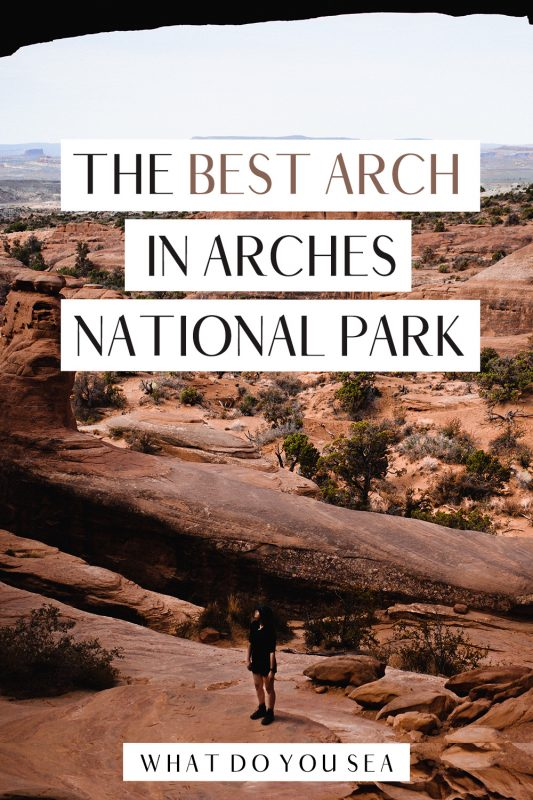 The Tower Arch Trail is an UNMISSABLE arch to spot in the most remote part of Arches National Park. No crowds, plenty of eye candy, and a rewarding view! Will you make the journey out here to one of the best hikes in this stunning Utah National Park?! #arches #archesnationalpark #usa