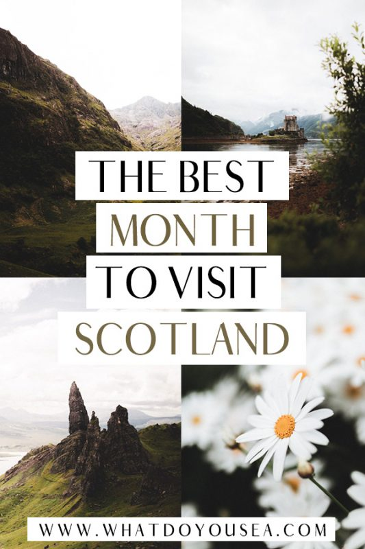 Do you want the most bang for your buck on your trip to Scotland? Do you want moody weather? Sunny weather? Spooky weather? Winter weather? Any weather? In this month-to-month weather breakdown, it covers the best month to travel to Scotland no matter your weather choice as well as when to go to avoid midges, visit the highlands, and more! #visitscotland #scotland