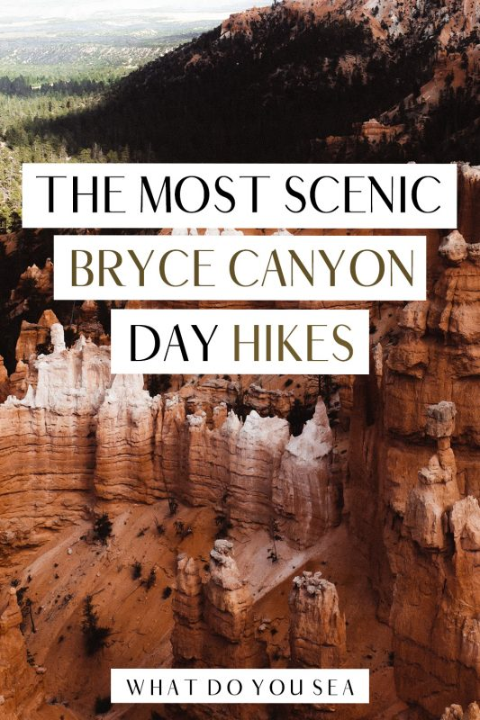 If you're embarking on an epic road trip through Utah's National Parks, the Bryce Canyon hikes are trails that you DO NOT want to miss! From the towering hoodoos, to the secluded backcountry hiking trails, I am taking you through the BEST hikes in Bryce Canyon National Park! #brycecanyonhikes #brycecanyonnationalpark