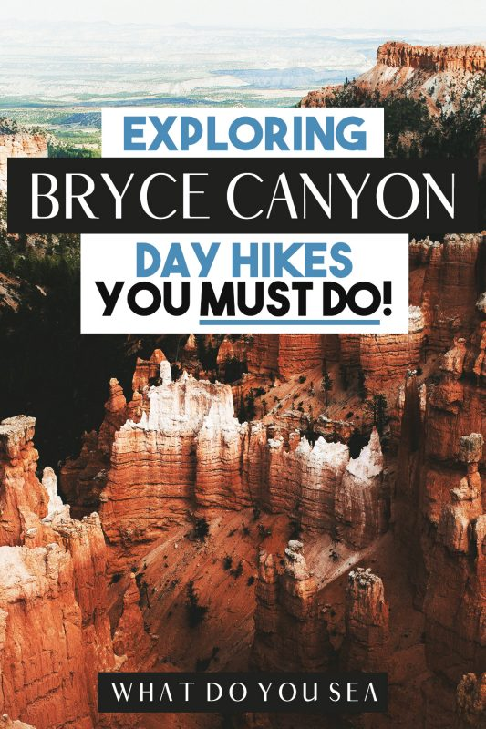 The hikes in Bryce Canyon National Park are some of my absolute FAVORITES in the American Southwest. Traverse these hiking trails around the Bryce Amphitheater and hoodoos to experience the top views in Bryce Canyon! #brycecanyon #utah #mightyfive