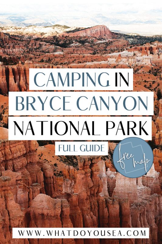 Camping in Bryce Canyon National Park is one of the best ways to explore this underrated park amongst Utah's Mighty Five. Pack up your camping gear and discover the best campsites inside Bryce Canyon, outside the park, and free alternatives if you're on a budget! #utah #brycecanyon #camping