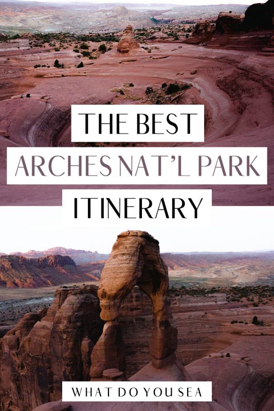 arches national park itinerary 3 days - pinterest image