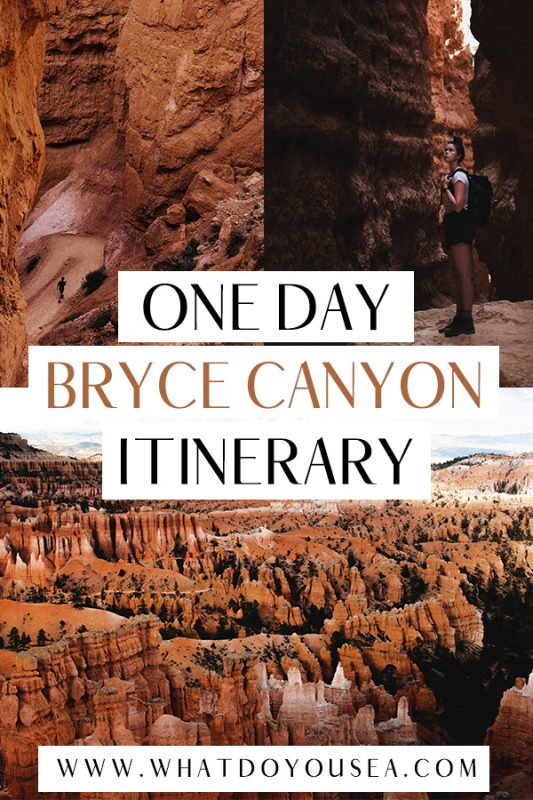 Looking to see all of Bryce Canyon National Park's highlights in only one day? This EPIC itinerary covers the best hikes, viewpoints, and best things to do with 24-hours in this Utah National Park! Begin your day with the Navajo Loop and venture out to Inspiration Point, Bryce Point, and other exciting day hikes! #utahtravel #utahnationalparks