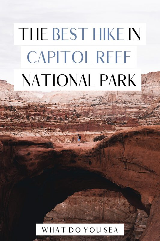 Hiking the Cassidy Arch Trail is one of the best and most rewarding things to do in Capitol Reef National Park. Whether you're visiting this Utah National Park in a day or camping overnight, you don't want to miss this hiking experience! #utah #capitolreefnationalpark