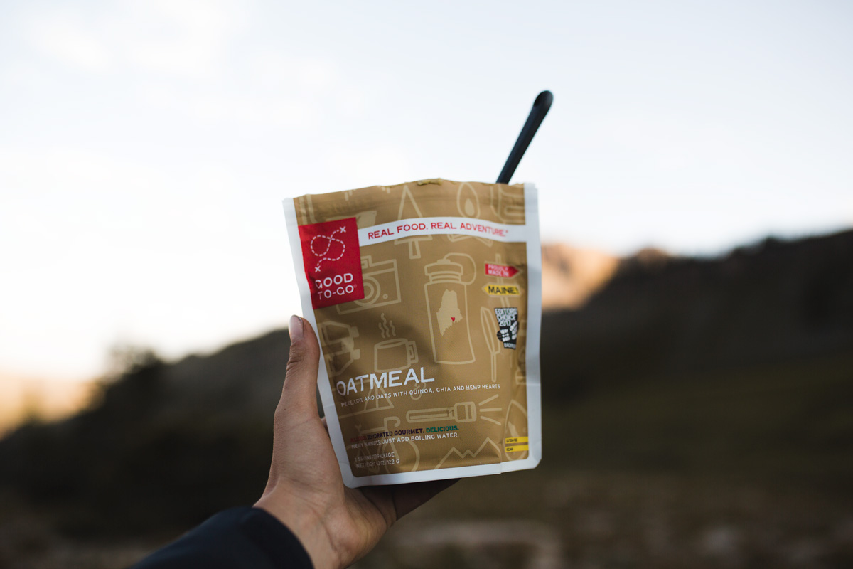 backpacking food, backpacking meals, good-to-go meals, dehydrated backpacking meals, vegan backpacking food, teton crest trail backpacking food, hiking, hiking food, vegan